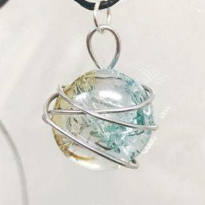 BOGO💫Astral Crackled Glass Gem Necklace